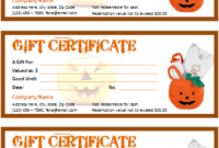 Halloween Gift Certificate For Word | Office Templates Online throughout Best Halloween Gift Certificate Template Free