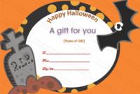 Halloween Gift Certificate (Pumpkin, #1027) In 2020 | Gift in Best Halloween Gift Certificate Template Free