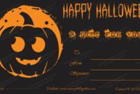 Halloween Gift Certificate Template 1 – Blank Certificate regarding Halloween Gift Certificate Template Free