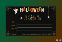 Halloween Gift Certificate Template – Gct for Best Halloween Gift Certificate Template Free