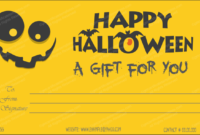 Halloween Gift Certificate Templates – Editable Designs (In inside Best Halloween Gift Certificate Template Free