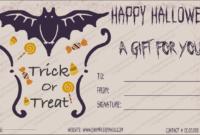 Halloween Gift Gift Template 2 – Create Halloween Certificates with Halloween Gift Certificate Template Free