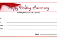 Happy Anniversary Gift Certificate Template Free 6 In 2020 for Anniversary Gift Certificate