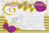 Happy Anniversary Gift Certificate Template | Happy regarding Anniversary Gift Certificate
