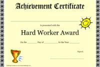 Hard Work Certificate Of Achievement Template Download regarding Great Work Certificate Template
