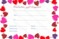 Heart Border Gift Certificate Template – Gift Certificates throughout Valentine Gift Certificate Template