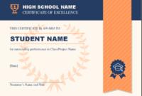 High School Achievement Certificate intended for Academic Achievement Certificate Templates