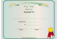 Hip Hop Dance Achievement Certificate Template Download pertaining to Hip Hop Certificate Templates