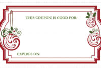 Holiday Coupon Template | Free Coupon Template, Coupon in Fresh Holiday Gift Certificate Template Free 10 Designs