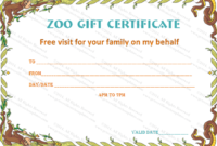 Holiday Gift Certificate Templates (22+ Printable & Editable) within Zoo Gift Certificate Templates Free Download