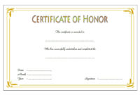 Honor Certificate Template Word: 14+ Ideas Free for Honor Certificate Template Word 7 Designs Free