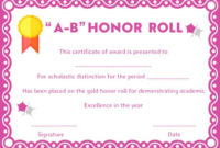 Honor Roll Certificates: 12 Templates To Reward Teachers And with Editable Honor Roll Certificate Templates