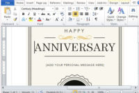 How To Create A Printable Anniversary Gift Certificate intended for Anniversary Gift Certificate