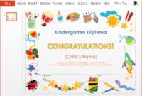How To Make A Printable Kindergarten Diploma Certificate with Best Kindergarten Graduation Certificate Printable