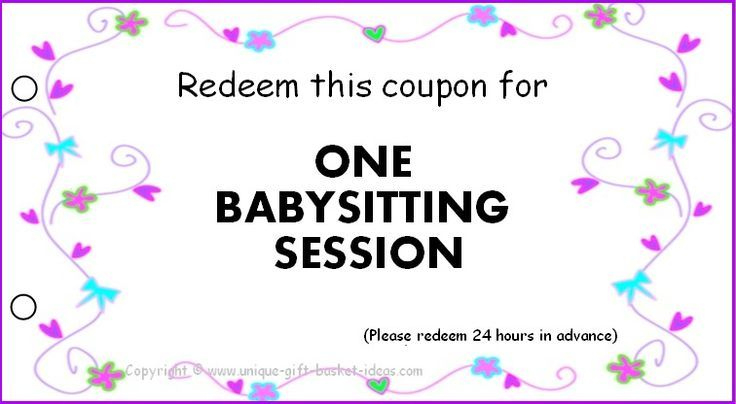 I Used This Coupon And It Gave So Many Costumers That I With Unique Babysitting Certificate Template 8 Ideas