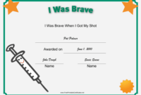 I Was Brave Shot Printable Certificate | Vacation Bible with regard to Bravery Certificate Templates
