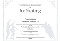 Ice Skating Printable Certificate with Ice Skating Certificates