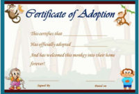 Image Result For Stuffed Animal Adoption Certificate for Unique Stuffed Animal Adoption Certificate Template Free