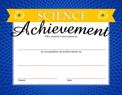 Image: Science Achievement Certificate   Christart Within Best Science Achievement Award Certificate Templates