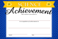 Image: Science Achievement Certificate | Christart within Science Achievement Certificate Templates