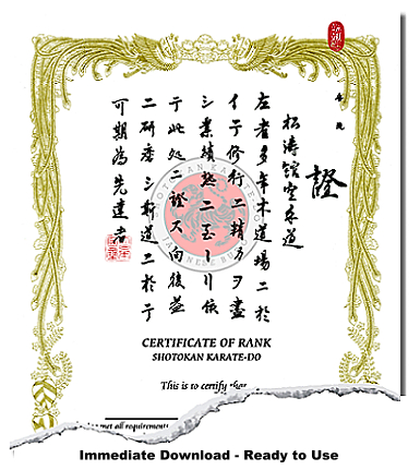 Japanese Martial Arts Certificate Templates Within Best Martial Arts Certificate Templates