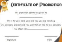 Job Promotion Certificate Template In 2020 | Certificate pertaining to Job Promotion Certificate Template Free