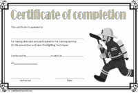 Junior Firefighter Certificate Template Free | Certificate intended for Firefighter Certificate Template