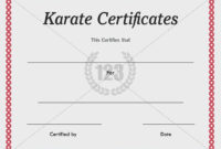 Karate Certificate Templates Free And Premium intended for Karate Certificate Template