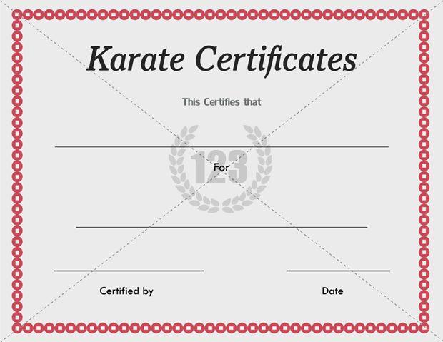 Karate Certificate Templates Free And Premium Intended For Karate Certificate Template