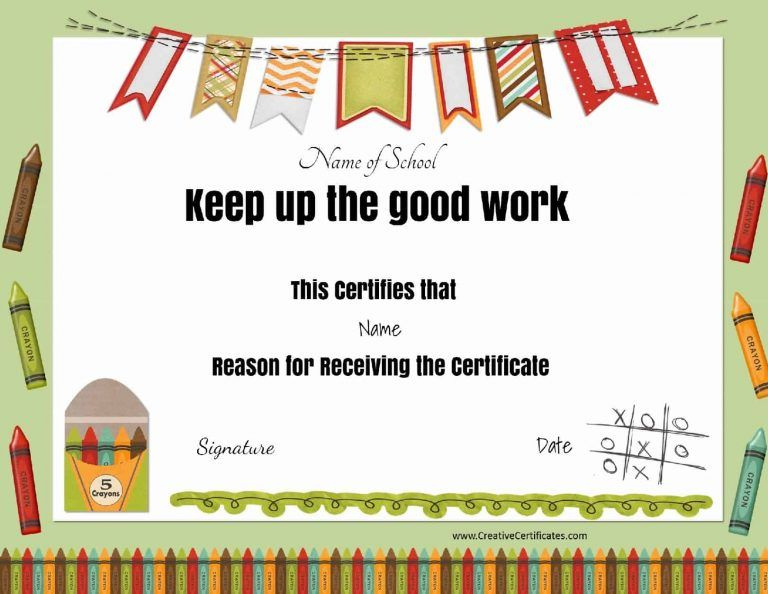 Keep Up The Good Work   Teacher Awards, School Certificates With Unique Great Work Certificate Template