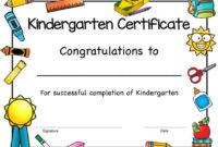 Kindergarten Certificate, Kindergarten Award, Kindergarten Completion,  Kindergarten Graduation Certificate, Printable, Instant Download in Best Kindergarten Graduation Certificate Printable
