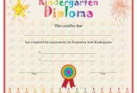 Kindergarten Diploma Certificate Template Download Printable with Best Kindergarten Graduation Certificate Printable