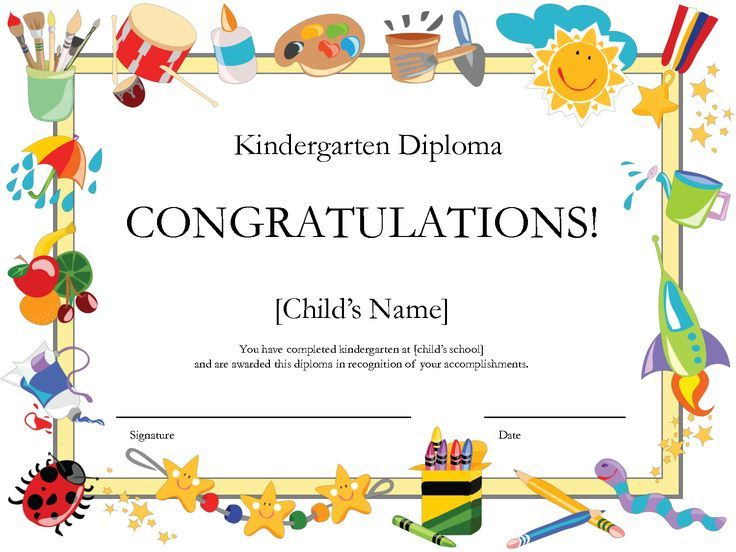 Kindergarten Diploma | Free Printable Certificate Templates pertaining to Unique 10 Kindergarten Graduation Certificates To Print Free