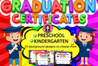 Kindergarten Graduation Certificates And Diplomas|Preschool | Tk |  (Editable) intended for Editable Pre K Graduation Certificates