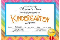 Kindergarten & Pre-K Diplomas (Editable) | Kindergarten inside Fresh 10 Kindergarten Diploma Certificate Templates Free