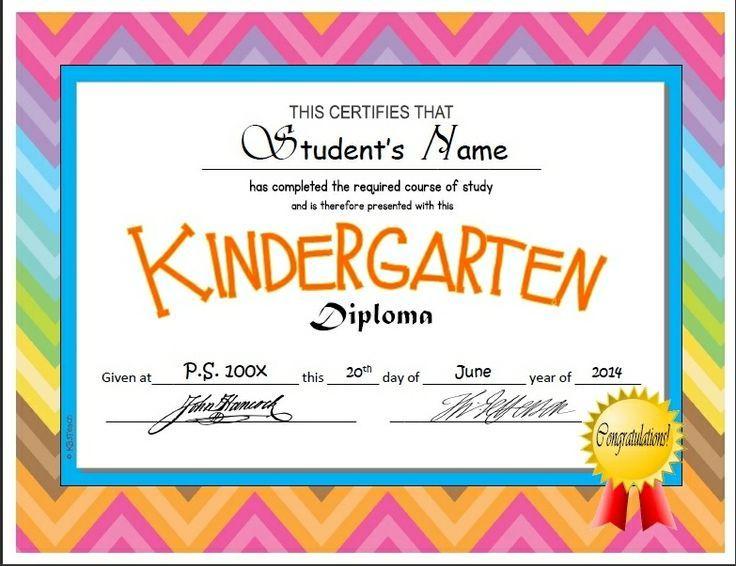 Kindergarten & Pre K Diplomas (Editable) | Kindergarten Throughout Kindergarten Diploma Certificate Templates 10 Designs Free