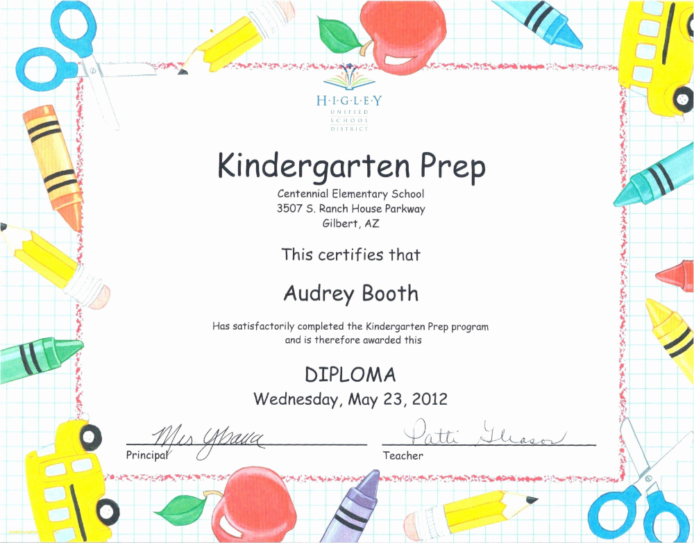 Kindergarten Promotion Certificates Toha Pertaining To Within Unique Certificate Of School Promotion 10 Template Ideas