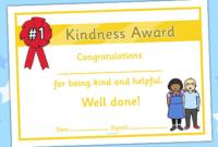 Kindness Award Certificate   Award Certificates, Award pertaining to Fresh Certificate Of Kindness Template Editable Free