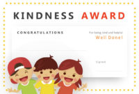 Kindness Award Powerpoint Certificate – Pslides intended for Unique Kindness Certificate Template Free
