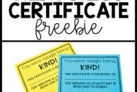 Kindness Certificate Award in Unique Kindness Certificate Template Free