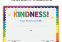 Kindness Certificate | Bible Lessons For Kids, Lessons For intended for Fresh Certificate Of Kindness Template Editable Free