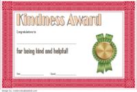 Kindness Certificate Template 02 | Certificate Templates regarding Certificate Of Kindness Template Editable Free