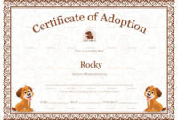 Kitten Adoption Certificate Intended For Toy Adoption for Pet Adoption Certificate Template Free 23 Designs