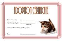 Kitten Adoption Certificate Template Free (2Nd Version) In regarding Cat Adoption Certificate Template