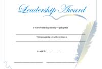 Leadership Award Certificate Printable Certificate for Unique Leadership Award Certificate Templates
