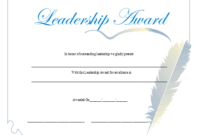 Leadership Award Certificate Printable Certificate intended for Fresh Leadership Award Certificate Template