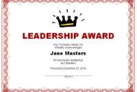 Leadership-Award-Certificate-Printable for Leadership Award Certificate Templates
