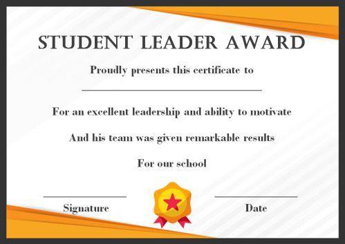 Leadership Award Certificate Template (7) - Templates pertaining to Leadership Award Certificate Templates