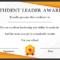 Leadership Award Certificate Template (7) - Templates with Fresh Leadership Award Certificate Template