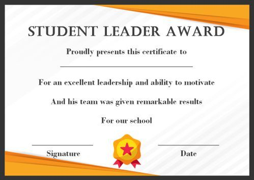 Leadership Award Certificate Template (7) - Templates with Fresh Leadership Award Certificate Template